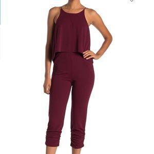 Love..Ady Women's Jumpsuit Size 2x Burgundy Halter
